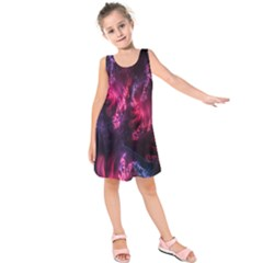Abstract Fractal Background Wallpaper Kids  Sleeveless Dress