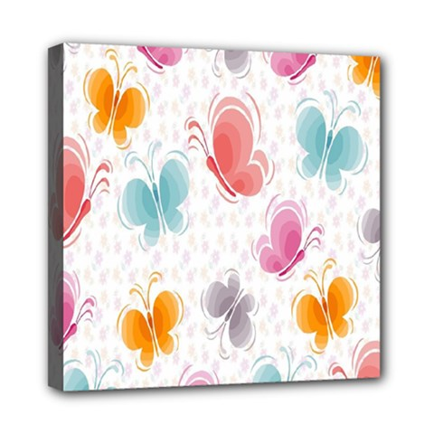 Butterfly Pattern Vector Art Wallpaper Mini Canvas 8  X 8