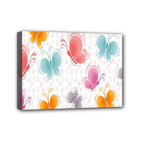 Butterfly Pattern Vector Art Wallpaper Mini Canvas 7  X 5