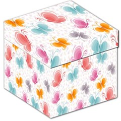 Butterfly Pattern Vector Art Wallpaper Storage Stool 12