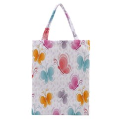 Butterfly Pattern Vector Art Wallpaper Classic Tote Bag