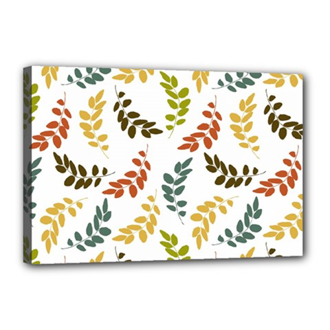 Colorful Leaves Seamless Wallpaper Pattern Background Canvas 18  x 12