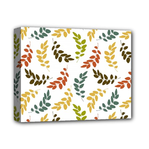 Colorful Leaves Seamless Wallpaper Pattern Background Deluxe Canvas 14  X 11