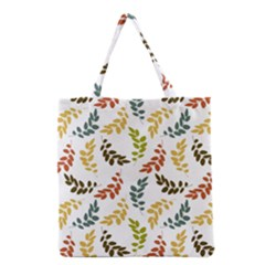 Colorful Leaves Seamless Wallpaper Pattern Background Grocery Tote Bag