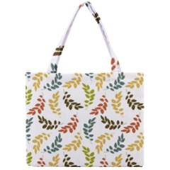 Colorful Leaves Seamless Wallpaper Pattern Background Mini Tote Bag
