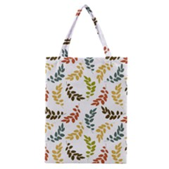 Colorful Leaves Seamless Wallpaper Pattern Background Classic Tote Bag