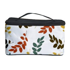 Colorful Leaves Seamless Wallpaper Pattern Background Cosmetic Storage Case