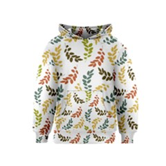 Colorful Leaves Seamless Wallpaper Pattern Background Kids  Pullover Hoodie