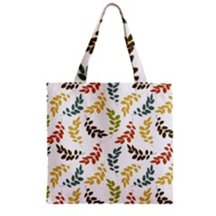 Colorful Leaves Seamless Wallpaper Pattern Background Zipper Grocery Tote Bag