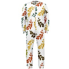 Colorful Leaves Seamless Wallpaper Pattern Background Onepiece Jumpsuit (men)