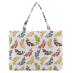 Colorful Leaves Seamless Wallpaper Pattern Background Medium Zipper Tote Bag