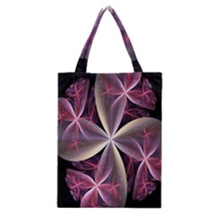 Pink And Cream Fractal Image Of Flower With Kisses Classic Tote Bag