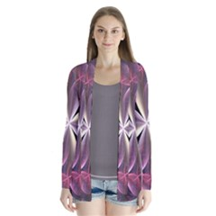 Pink And Cream Fractal Image Of Flower With Kisses Cardigans