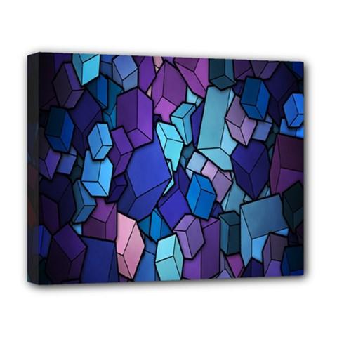 Cubes Vector Art Background Deluxe Canvas 20  X 16