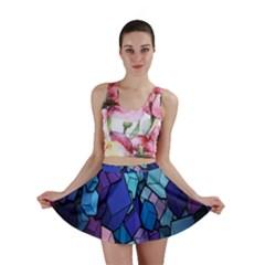 Cubes Vector Art Background Mini Skirt