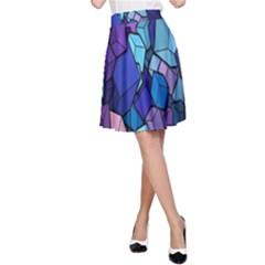 Cubes Vector Art Background A Line Skirt