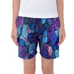 Cubes Vector Art Background Women s Basketball Shorts