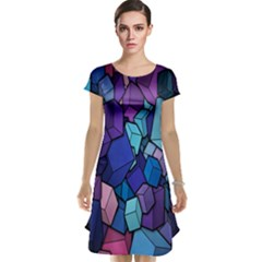 Cubes Vector Art Background Cap Sleeve Nightdress