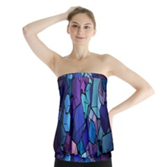 Cubes Vector Art Background Strapless Top