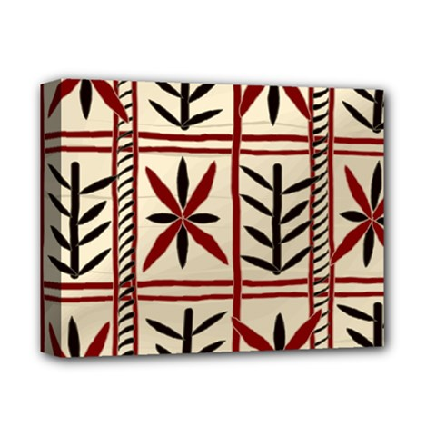 Abstract A Colorful Modern Illustration Pattern Deluxe Canvas 14  X 11
