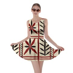 Abstract A Colorful Modern Illustration Pattern Skater Dress