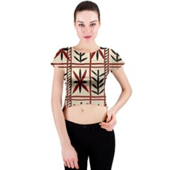 Abstract A Colorful Modern Illustration Pattern Crew Neck Crop Top