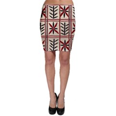 Abstract A Colorful Modern Illustration Pattern Bodycon Skirt