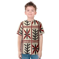 Abstract A Colorful Modern Illustration Pattern Kids  Cotton Tee