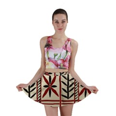Abstract A Colorful Modern Illustration Pattern Mini Skirt