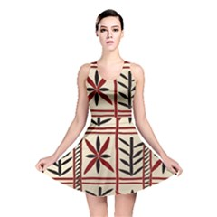 Abstract A Colorful Modern Illustration Pattern Reversible Skater Dress