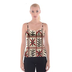 Abstract A Colorful Modern Illustration Pattern Spaghetti Strap Top