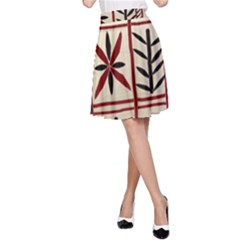 Abstract A Colorful Modern Illustration Pattern A-Line Skirt
