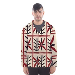 Abstract A Colorful Modern Illustration Pattern Hooded Wind Breaker (men)