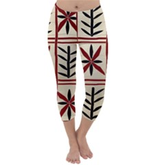 Abstract A Colorful Modern Illustration Pattern Capri Winter Leggings