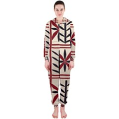 Abstract A Colorful Modern Illustration Pattern Hooded Jumpsuit (Ladies)