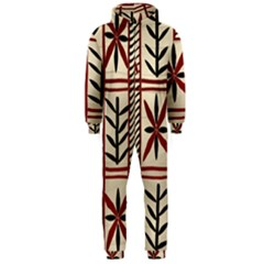 Abstract A Colorful Modern Illustration Pattern Hooded Jumpsuit (men)