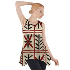 Abstract A Colorful Modern Illustration Pattern Side Drop Tank Tunic