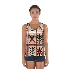 Abstract A Colorful Modern Illustration Pattern Women s Sport Tank Top