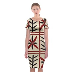 Abstract A Colorful Modern Illustration Pattern Classic Short Sleeve Midi Dress