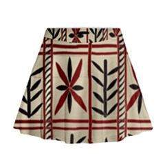 Abstract A Colorful Modern Illustration Pattern Mini Flare Skirt