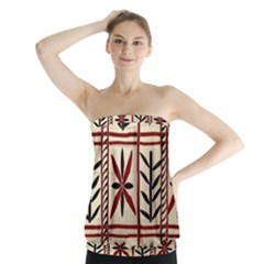 Abstract A Colorful Modern Illustration Pattern Strapless Top