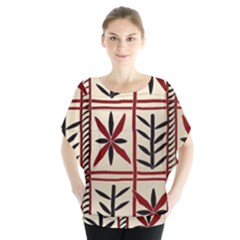 Abstract A Colorful Modern Illustration Pattern Blouse