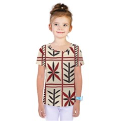 Abstract A Colorful Modern Illustration Pattern Kids  One Piece Tee