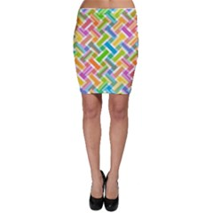 Abstract Pattern Colorful Wallpaper Background Bodycon Skirt