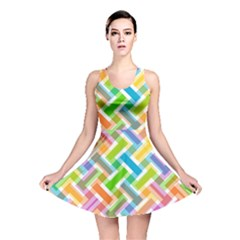 Abstract Pattern Colorful Wallpaper Background Reversible Skater Dress