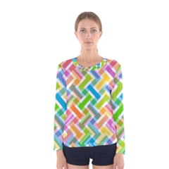 Abstract Pattern Colorful Wallpaper Background Women s Long Sleeve Tee