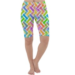 Abstract Pattern Colorful Wallpaper Background Cropped Leggings