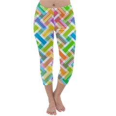 Abstract Pattern Colorful Wallpaper Background Capri Winter Leggings