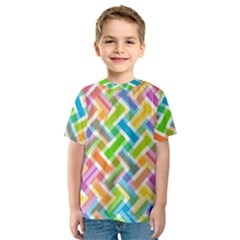 Abstract Pattern Colorful Wallpaper Background Kids  Sport Mesh Tee