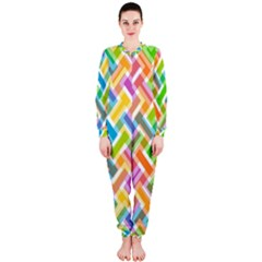 Abstract Pattern Colorful Wallpaper Background OnePiece Jumpsuit (Ladies)
